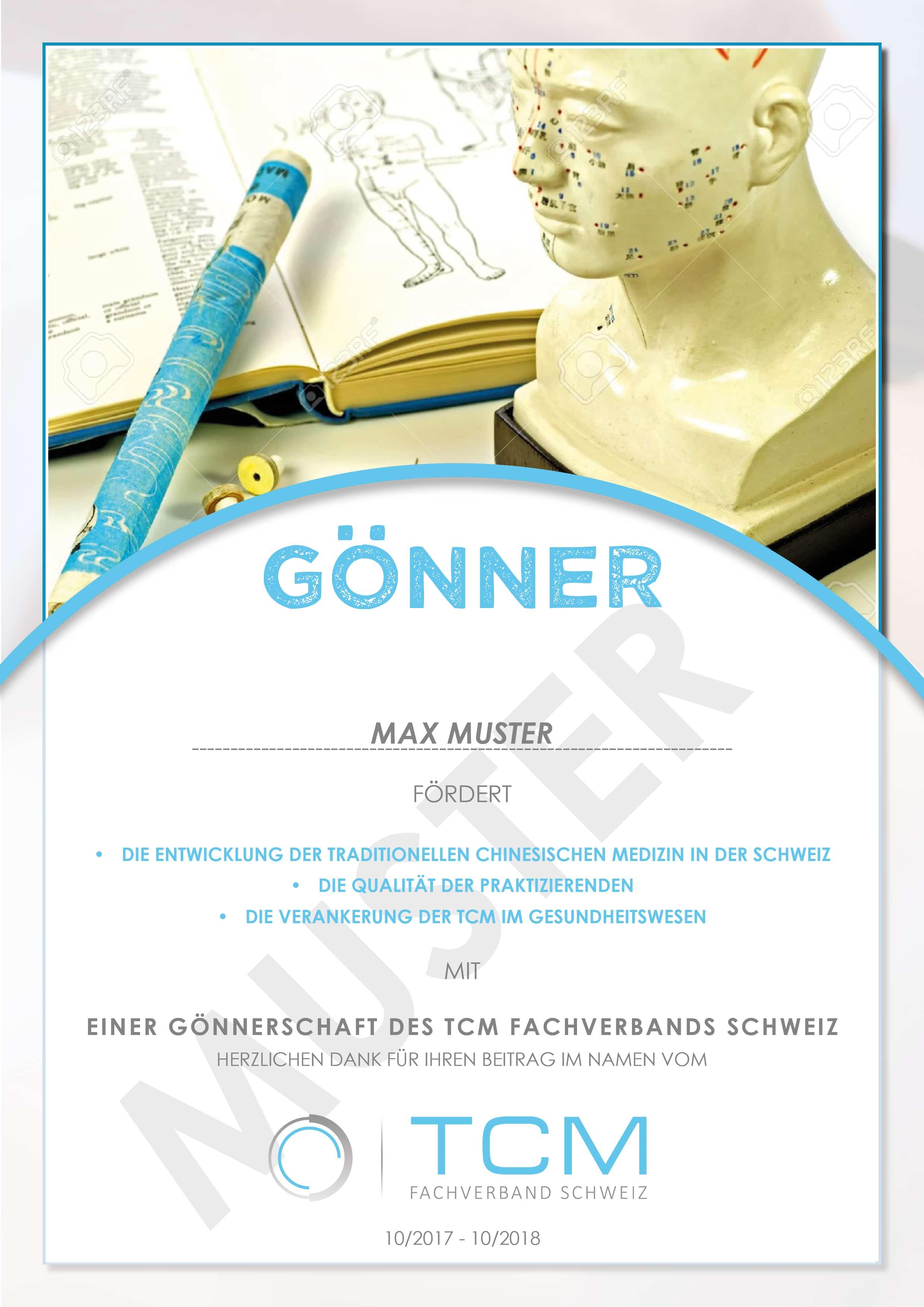 Gönner-Urkunde-Muster